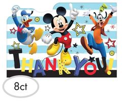 ©Disney Mickey on the Go Postcard Thank You Notes, 8ct