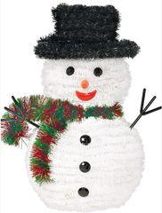 Tinsel Deluxe 3-D Snowman Decoration