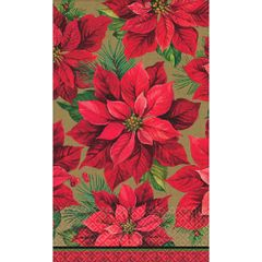 Holiday Poinsettia Guest Towel