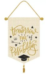 Tomorrow Is Full Of Possibilities Grad Canvas Banner