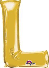 """Gold Letter L - 34"""" Mylar"""