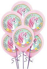Magical Unicorn Color Printed Latex Balloons