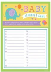 Baby Shower A to Z Game