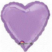 Heart 29 Pearl Lavender Mylar Balloon 18in