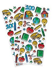 100th Day Of School Prismatic Stickers, 100 ct.