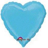 Heart 17 Caribbean Blue Mylar Balloon 18in