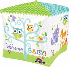 """Cubez Welcome Woodland Baby Balloon 15"""""""
