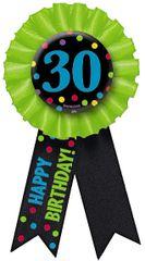 30th Birthday Award Ribbon