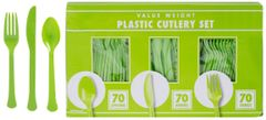 Big Party Pack Kiwi Window Box Cutlery Set, 210ct