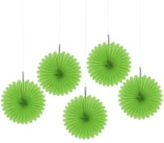 Kiwi Mini Hanging Fan Decorations, 5ct