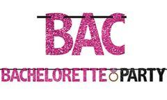 Glitter Bachelorette Party Letter Banner, 12ft