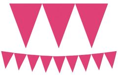 Bright Pink Pennant Banner, 15ft