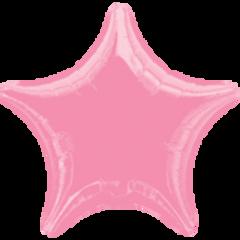 Star 31 Metallic Pink Mylar Balloon 18in