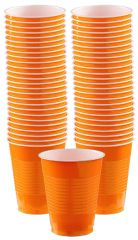 Big Party Pack Orange Plastic Cups, 16 oz - 50ct