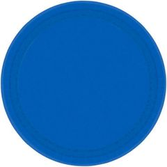 """Bright Royal Blue Lunch Plates, 9"""" - 20ct"""