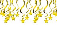 Gold Shooting Star Mega Value Pack Swirl Decorations