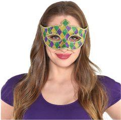 Glitter Harlequin Mardi Gras Masquerade Mask