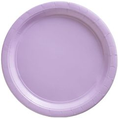 "Big Party Pack Lavender Lunch Paper Plates, 9"" - 50ct"