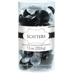 Black & Clear Diamond Table Scatter