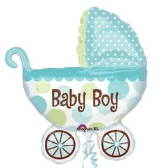 Baby Boy Buggy-Super Shape Balloon 31""
