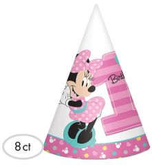 ©Disney Minnie's Fun To Be One Paper Cone Hats, 8ct