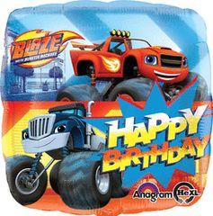 Blaze Happy Birthday Mylar 17in