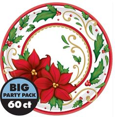 "Winter Botanical Plates, 9"""