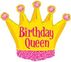 Birthday Queen Super Shape Balloon 36""