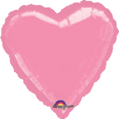 Heart 31 Metallic Pink Mylar Balloon 18in