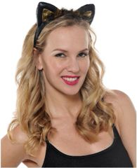Black & Brown Cat Ears Headband