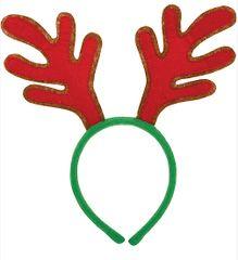 Red Reindeer Antlers Headband