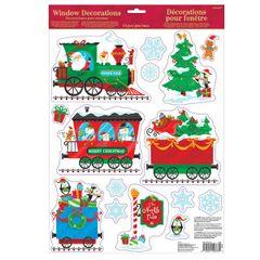 Christmas Train Window Decoration