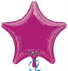 Dazzler Star 10 Fuchsia Mylar Balloon