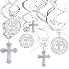 Blessed Day Hanging Swirl Decorations, 12ct