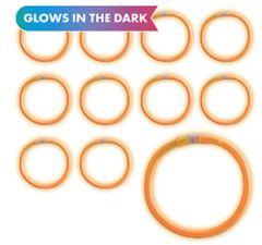 "8"" Orange Glow Bracelets, 12ct"