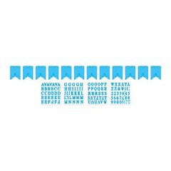 Blue First Communion Personalized Pennant Banner Kit
