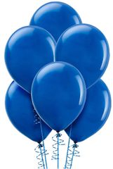 Bright Royal Blue Solid Color Latex Balloons, 72ct