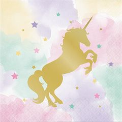 Unicorn Sparkle Luncheon Napkins, 16ct