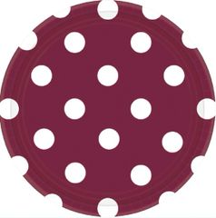 "Berry Dots, 7"" Round Plates"