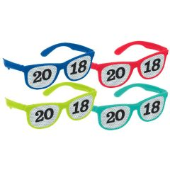 """2018"" Printed Glasses Multi Pack - Jewel Tone"