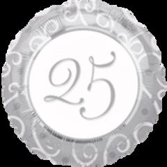 "25th Anniversary Balloon 18"""