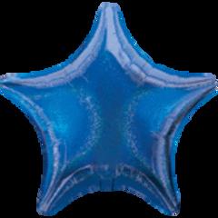 Dazzler Star 06 Blue Mylar Balloon 19in