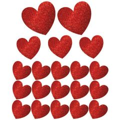 Glitter Paper Heart Mega Value Pack Cutouts