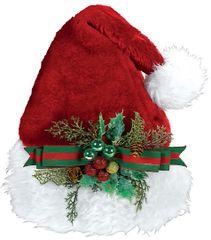 Deluxe Embellished Santa Hat