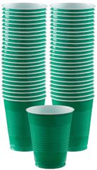 Big Party Pack Festive Green Plastic Cups, 12oz - 50ct