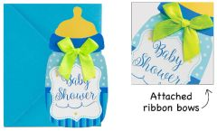Baby Shower Blue Bottle Novelty Invitations, 8ct