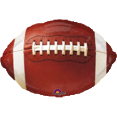 Championship Football Mylar 18in