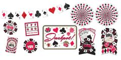 Place Your Bets Casino Room Decorating Kit, 10pc