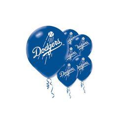 Los Angeles Dodgers Major League Baseball Printed Latex Balloons