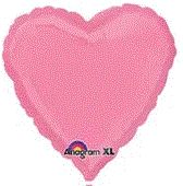 Heart 36 Bubble Gum Pink Mylar Balloon 18in